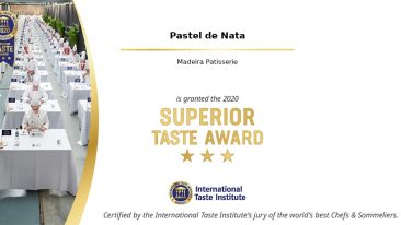 "• Pastel de Nata is granted the Superior Taste Award with 3 Stars *** ""Remarkable taste"""
